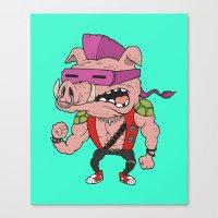 bebop Canvas Prints featuring Bebop TMNT by beeisforbear