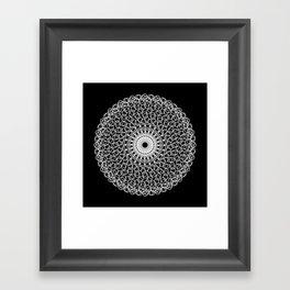 Circle Mandala Framed Art Print