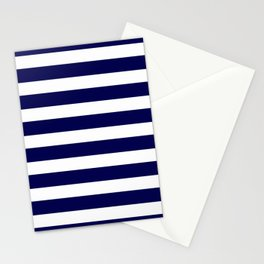 Navy Blue & White Stripes - Mix & Match with Simplicity of Life Stationery Cards
