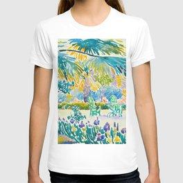 Henri-Edmond Cross Neo-Impressionism Pointillism Garden of the Painter at Saint Clair 1908 T-shirt