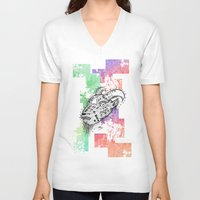goat V-neck T-shirts featuring Goat  by LSjoberg