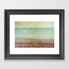 by the ocean Framed Art Print