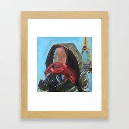 Blue Paris Framed Art Print