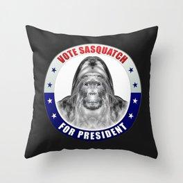 Sasquatch For President Throw Pillow