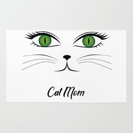 Cat Mom - Green Eyed Cat for Cat Lovers Rug