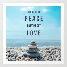 peace love Art Print