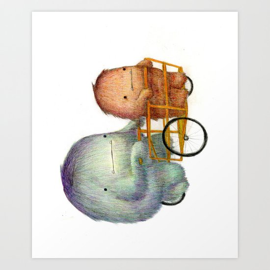 Bikla Art Print