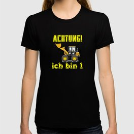 Achtung! Ich bin 1 Geburtstag baufahrzeuge bagger, T-shirt