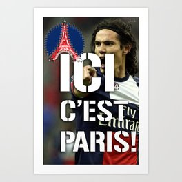 Ici c'est Paris! colors urban fashion culture Jacob's 1968 Paris Agency for Cavani psg supporters Art Print