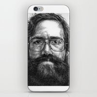 wesley bird iPhone & iPod Skins featuring Wesley Allen Hartley by Gil Corral