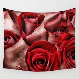 Velvet Roses Wall Tapestry