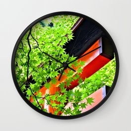 Leaf to Leave to Gate Wall Clock