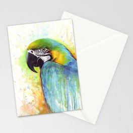 Bird Watercolor Animal Macaw Stationery Cards