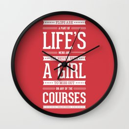 Lab No. 4 Flops Are A Part Of Life's Rosalind Russell Motivational Quote Wall Clock
