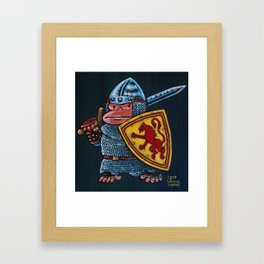 Ape th Bruce, Medieval Warrior Framed Art Print