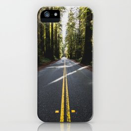 Redwoods Road Trip - Nature Photography iPhone Case
