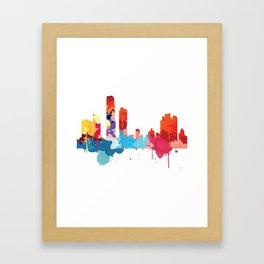 Panama Cityscape Watercolor Framed Art Print