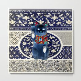 Maneki Neko (Lucky Cat) II Metal Print