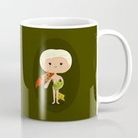 mother of dragons Mugs featuring Dragons' Mother by Sombras Blancas Art & Design