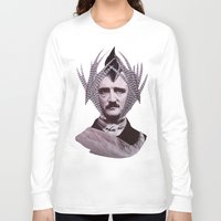 edgar allan poe Long Sleeve T-shirts featuring EDGAR ALLAN POE by MELANCHOLIE (mit MONSTERN)