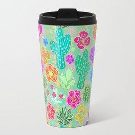 Cactus Festival Party - Green Travel Mug