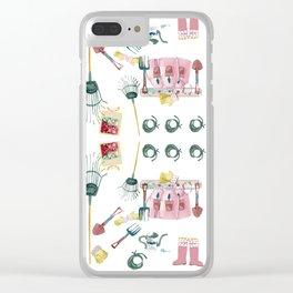 A Garden Plan Clear iPhone Case