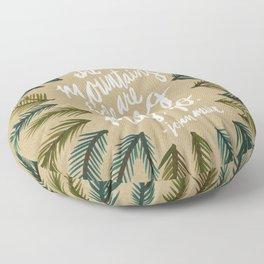 Mountains Calling – Kraft Floor Pillow