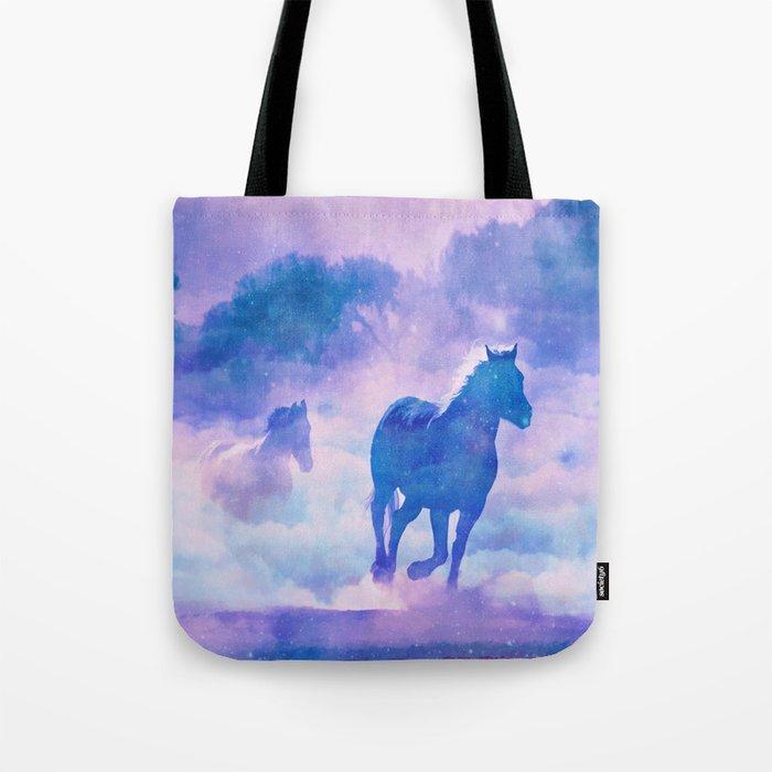 Horses run Tote Bag