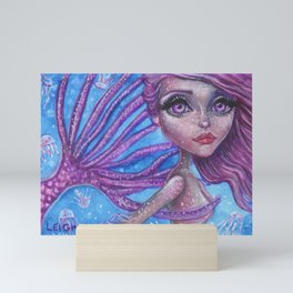 Julia Jellyfish is a Mermaid Tails Series no 008 by Laurie Leigh Mini Art Print