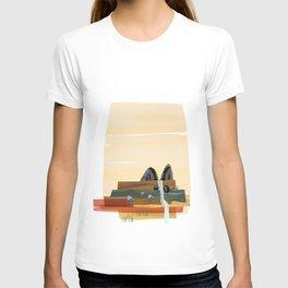 Modern abstract landscape T-shirt
