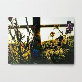 Shadows & Wildflowers Metal Print