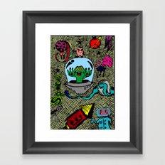 Aliens in Space Framed Art Print