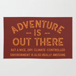 Adventure Is Out There BUT... Rug