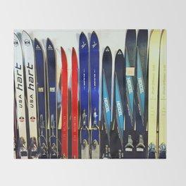 Vintage Ski Collection Throw Blanket
