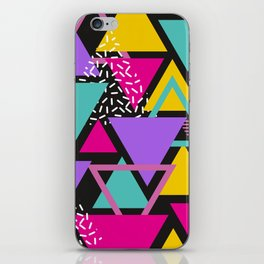 Memphis Triangles iPhone Skin