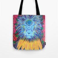 grateful dead Tote Bags featuring Grateful by SRC Creations