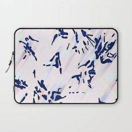 Blue Splatter Painting Pattern Laptop Sleeve