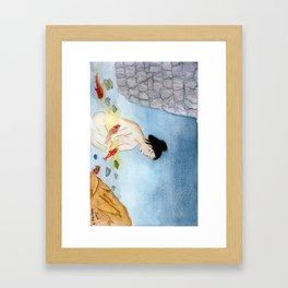 Bathing with the Kois Framed Art Print