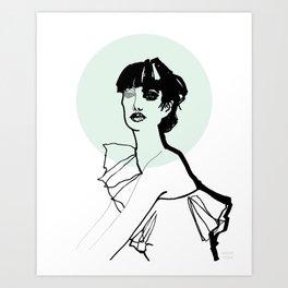 Green Nimbus Art Print