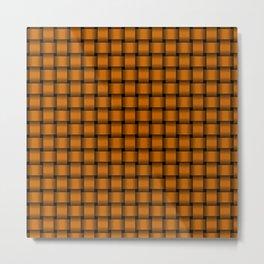 Small Dark Orange Weave Metal Print