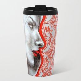 Lady of the Lotuses Travel Mug
