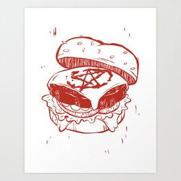 Beelzeburger in Heinz Art Print