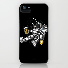Astronaut Drinking Beer Space Party iPhone Case