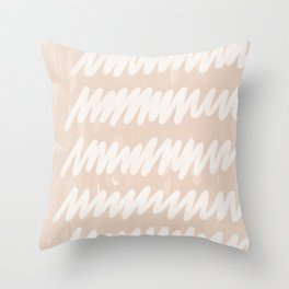 static blush Throw Pillow