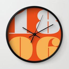 18th June Wall Clock