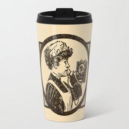 Lady at phone. Travel Mug