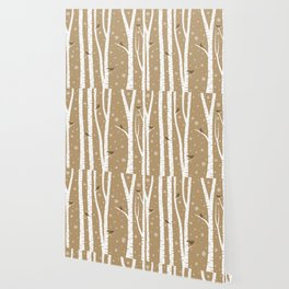 Birch Forest - Winter Idyll Wallpaper