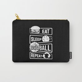 Eat Sleep Basketball Repeat - B-Ball Team Dunk Carry-All Pouch