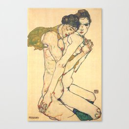 "Egon Schiele ""Friendship"" Canvas Print"