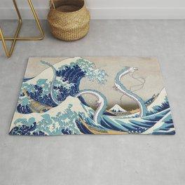 Haku and the Great Wave Rug
